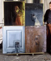 Sławomir Karpowicz: At studio with self-portraits