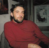 Sławomir Karpowicz: Sławek with Ania's poster