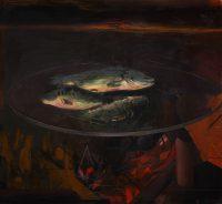 Sławomir Karpowicz: Martwa natura 8. Martwa natura z trzema rybami
