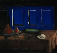 Sławomir Karpowicz: Composition III. Still life with blue coffers