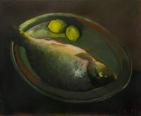 Sławomir Karpowicz: Still life with a fish and lemons
