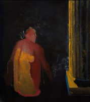 Sławomir Karpowicz: Sitting figure and a column